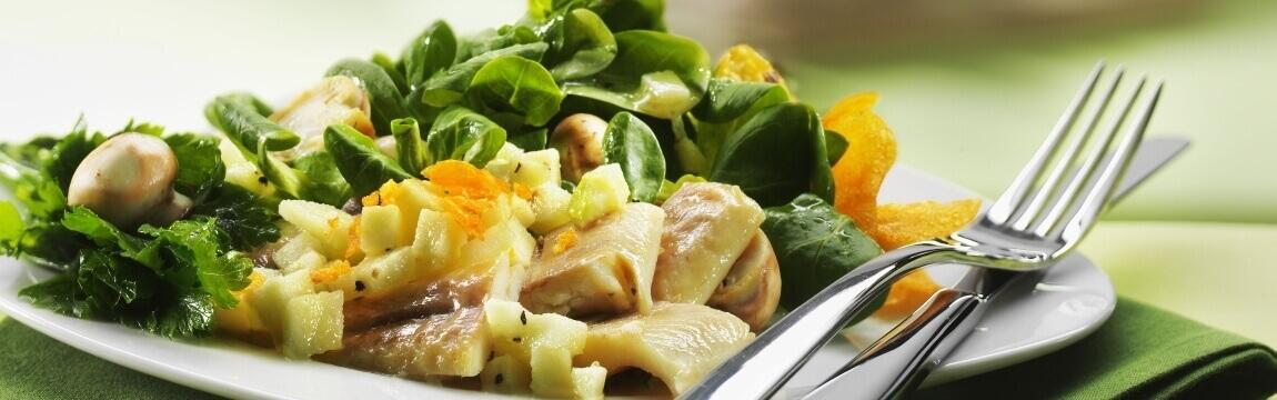 Feldsalat mit Apfelvinaigrette Rezept von Elbe-Obst aus dem Alten Land