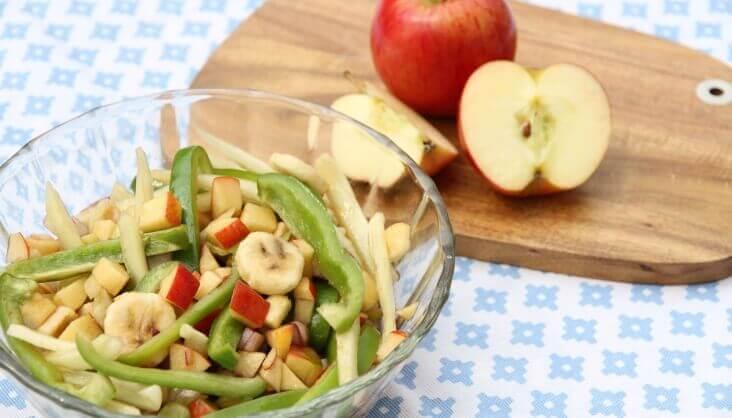Apfel-Paprika-Salat Rezept von Elbe-Obst aus dem Alten Land