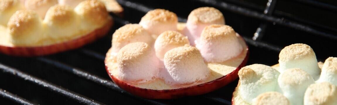 gegrillter Apfel-Marshmallow Rezept von Elbe-Obst aus dem Alten Land