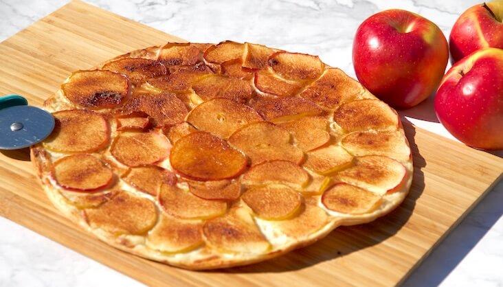 Rezept Apfelflammkuchen von Elbe-Obst