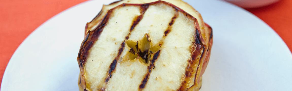 Gegrillte Apfelringe mit Quark von Elbe-Obst
