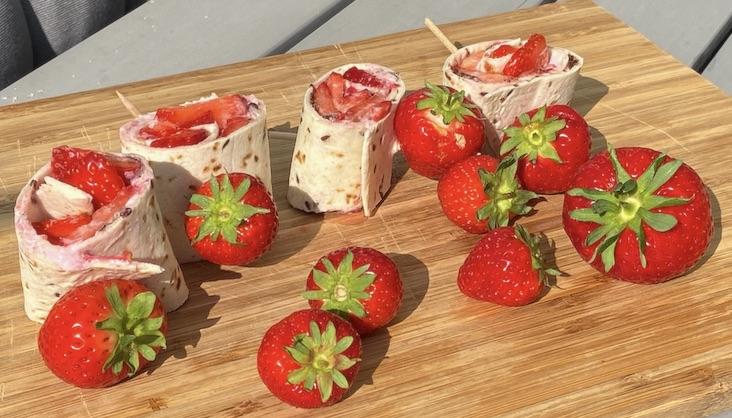 Rezept Erdbeer-Wraps von Elbe-Obst