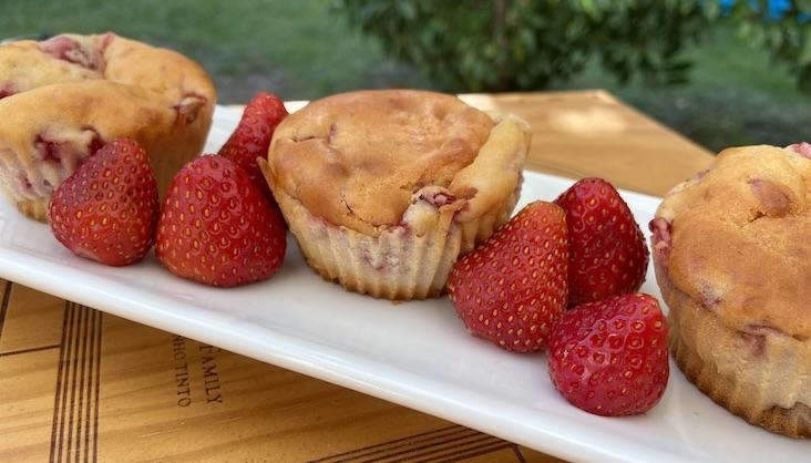 Rezept Erdbeer-Quark-Muffin von Elbe-Obst